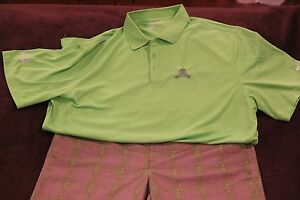 MENS UNDER ARMOUR GOLF SHORTS TANNEON GREEN SIZE 38 NIKE POLO XXL AWESOME LOT