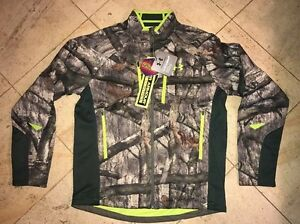 NWT $220 UNDER ARMOUR Coldgear Mossy Oak Treestand Camo Zippered Jacket  - Large