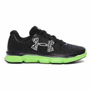 Under Armour Boys Pre-School UA ClutchFit RebelSpeed Running Shoes 3 Black