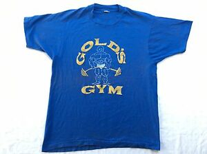 VINTAGE 80s GOLDS GYM TSHIRT RETRO MUSCLE WORKOUT