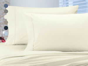 4 Piece: Luxury Home 1000 Thread Count Egyptian Cotton Sheet Sets