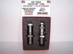 LEE 90635 * LEE COLLET NECK SIZING 2-DIE SET * 338 LAPUA * 1 14