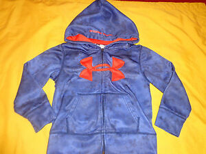 UNDER ARMOUR TODDLER BOY JACKETHOODIE 4 BLUE COLOR