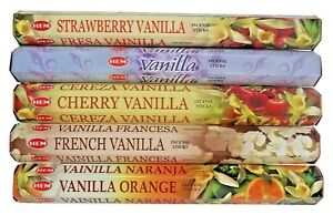 Hem Incense Stick Set 5 x 20 =100 Sticks Wicca Mixed Vanilla Scent Free Shipping