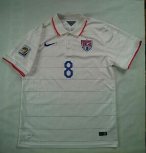 2014 NIKE AUTHENTIC DRI-FIT US NATIONAL SOCCER TEAM #8 DEMPSEY JERSEY SIZE XXL