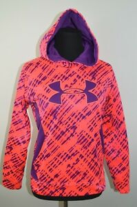 Girls Under Armour Hooded Sweatshirt Hoodie Storm Pink Purple Kids Size YMDJMM