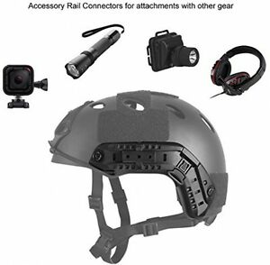 Black Tactical Fast Helmet for Airsoft Paintball Head Circumference 56 to 60cm