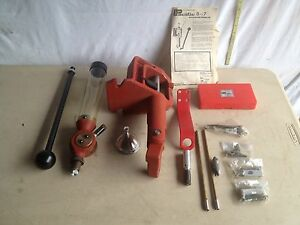 NOS-Pacific Hornady Classic Loader 0-7 Single Stage Press Cast Frame Red SEE DET