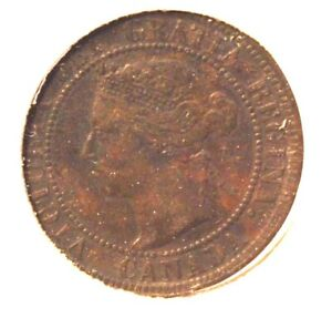 1899 Canada One Cent Bronze Coin with Display Holder Thecoindigger Antique Sale
