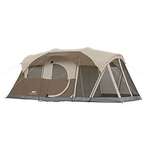 WeatherMaster Screened Tent 6 Person Two Room Family Outdoor Camping Coleman New