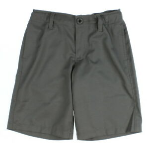 Under Armour 0615 Boys Medal Play Elastic Woven Golf Shorts Graphite Black Small