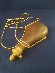 Antique James Dixon & Sons Sheffield Powder Horn  Brass With Stamp