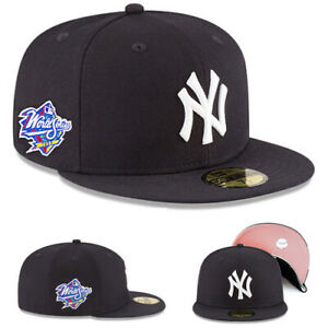 New Era New York Yankees Fitted Hat 1998 World Series Patch Pink Under Brim Cap $45.95