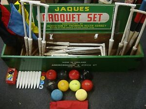 Jaques Of London Croquet Set Made For Abercrombie & Fitch Super Rare