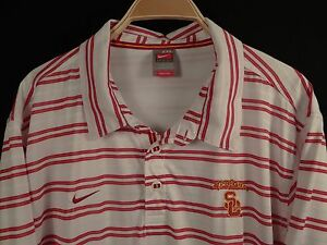 Nike Team Fit Dry USC Trojans Men's Polo-Style Golf Shirt Size XXL 2XL
