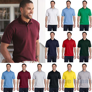 Hanes Mens EcoSmart Jersey Knit Polo Golf Sport Shirt S-4XL 054X-054