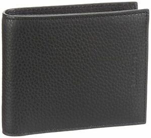 Lacoste Men's Black Pass Case Coin Pocket Leather Bifold Wallet Box Included