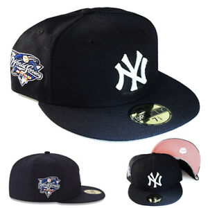 New Era New york Yankees Fitted Hat 2000 World Series Patch Pink Under Brim Cap $45.95