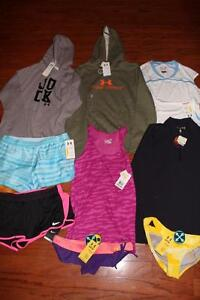 LOT 9 UNDER ARMOUR WOMENS HOODIES INFRARED JACKET NIKE SHORTS TANK TOP LARGE NWT