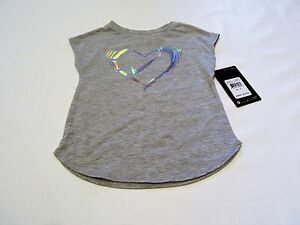 Nike baby girl clothes top t-shirt tee shirt size 2t sport gray heart love