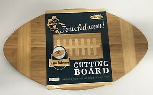 Picnic Time Touchdown Cutting Board Football Shaped (NEW)