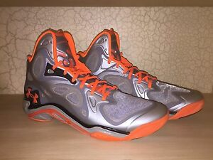 Under Armour Anatomix Spawn promo sample pe orange silver Curry 1 2 mvp UAA 11.5