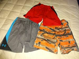 Lot of 3: Boys UNDER ARMOUR Athletic Shorts Youth Large YLG