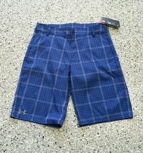 New Under Armour Golf Youth Boys Waist Adjustable Loose Fit Shorts Pants X-Large