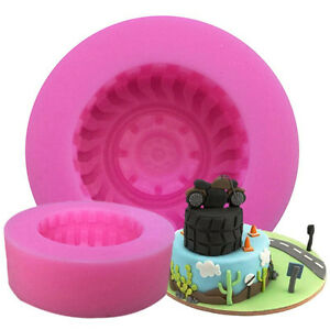 Motorcycle Tire Fondant Cake Silicone Mold Dry Pez Molding Mould Chocolate Mold