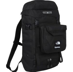 Supreme x The North Face Steep Tech BOX LOGO Black Backpack Bag PCL FW15 NEW