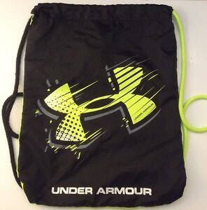 Under Armour Ozsee Sackpack Hyper GreenStealth Black One Size New