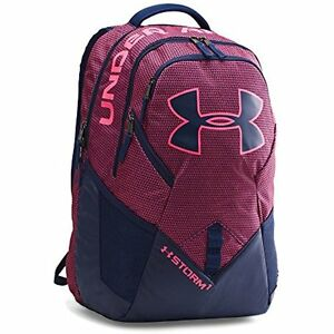 Under Armour Storm Big Sports & Fitness Features Logo Backpack Pink Navy One