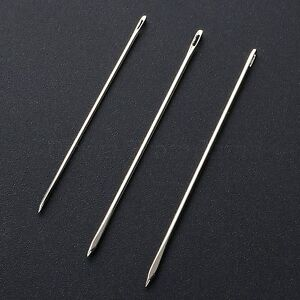 Metal Hand stitched Leather Needles Sewing Knitting Cowhide Apparel DIY Craft $2.69