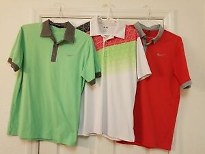 MENS GOLF DRI FIT CLOTHING LOT NIKE GOLF   PANTS SHIRTS TIGER WOODS ADIDAS SMALL