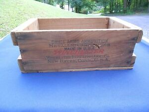 Vintage Winchester Wooden Ammunition Shipping Box 22 Short Ammo 10000 Rou