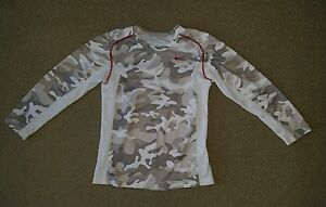 Nike Dry Fit Camo Logo GEAR BOYS SHIRT SZ YOUTH Small SM Fitted Athletic