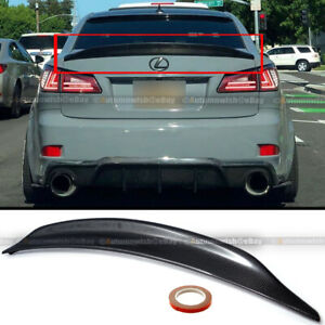Fit 06-12 IS250 IS350 Duck Bill High Kick Real Carbon Fiber Trunk Wing Spoiler