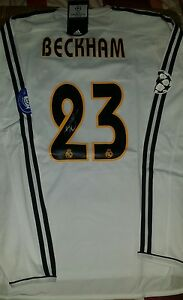 David Beckham Signed official Real Madrid Champions league 2003-2004 shirt.