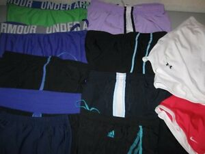 Lot 13 Women's NIKE Dri Fit Shorts Small Running UNDER ARMOUR Heatgear Skorts