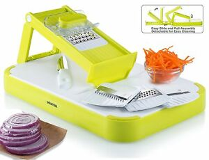 Gourmia GMS9255 Combo Kitchen Mandoline Slicer amp; Cutting Board Set With 4 Blades