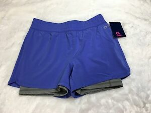 Gap Fit Girls Size XL Purple Gray Layered Dry Wicking Shorts Athletic NWT