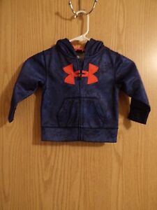 EUC-Under Armour Full Zip Hoodie Baby Toddler Size18 Months Blue