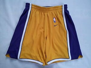 VINTAGE NIKE DRI-FIT LOS ANGELES LAKERS AUTHENTIC GAME SHORTS IN SIZE 38