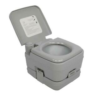 2.8 Gallon 10L Portable Toilet Travel Camping Outdoor Indoor Toilet Potty Flush $49.99