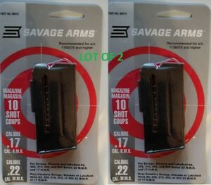 Lot of 2 - Savage Arms 93 Series 10 Round Magazine 17hmr  22mag 10rd Mag 90010
