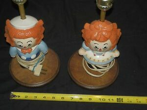 Raggedy Ann and Andy Lamps Early 70#x27;s ???? $50.00