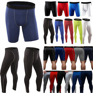 Mens Compression Shorts Jogger Pants Under Baselayer Armour Fitness Running Pant