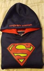 UNDER ARMOUR SUPERMAN Youth Boys XL Hoodie Jacket Alter Ego Storm