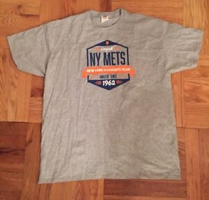 NEW Mets New York#x27;s Favorite Team Amazin#x27; Since 1962 XL Gray T Shirt MLB