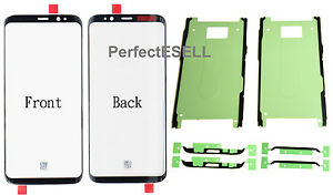 Front Outer Screen Glass Lens Replacement For Samsung Galaxy S8 + Adhesive